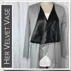 Wrap Faux Leather Lapels NWT by HerVelvetVase